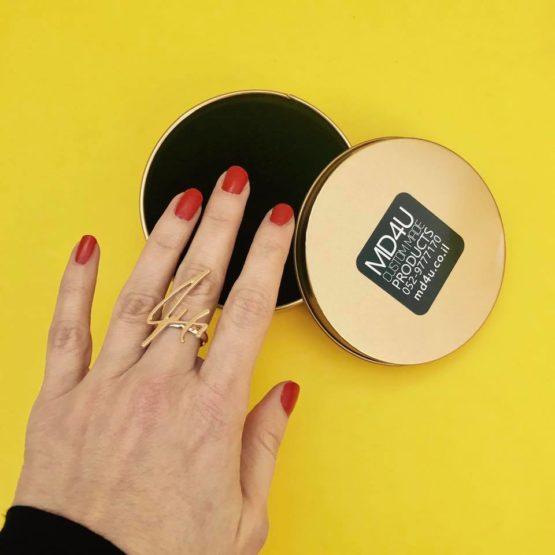 טבעת חריטה אישית - בעיצוב מחתימה1