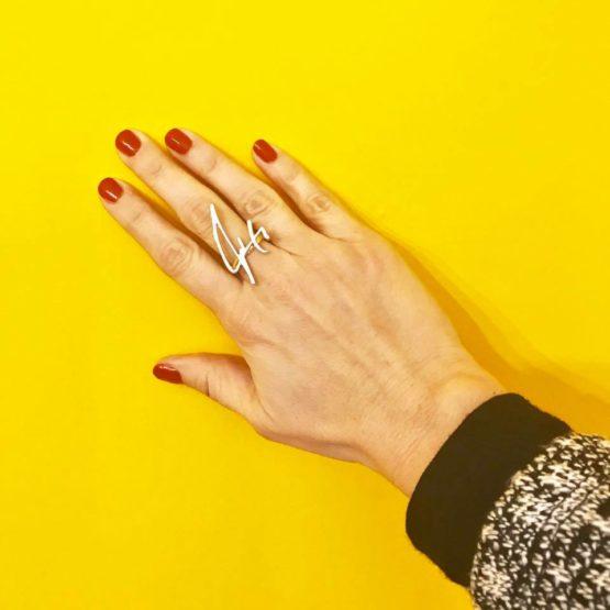 טבעת חריטה אישית - בעיצוב מחתימה2