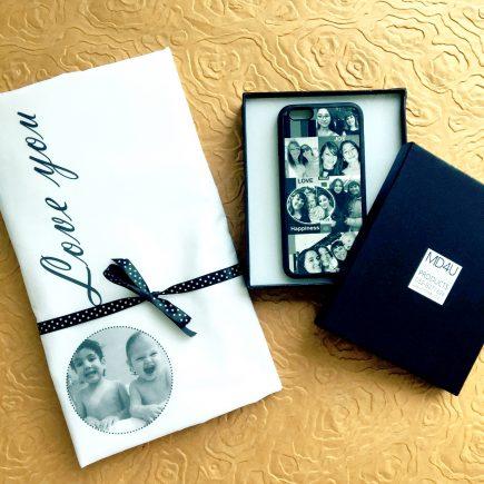 מתנה מקורית כיסוי לפלאפון וציפית לכרית